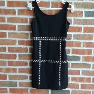 Candies Little Black Studded Dress Womens Small